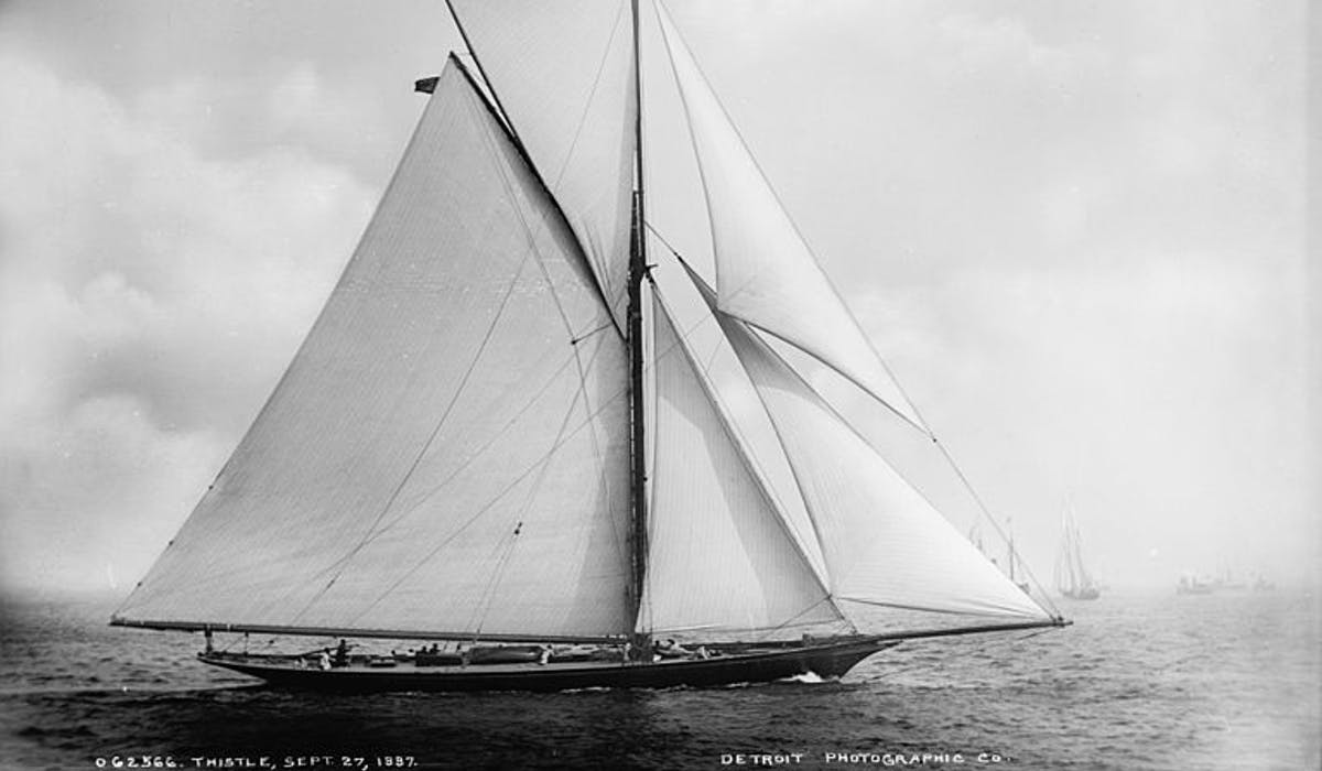 "Sailing yacht, ""Thistle"""
