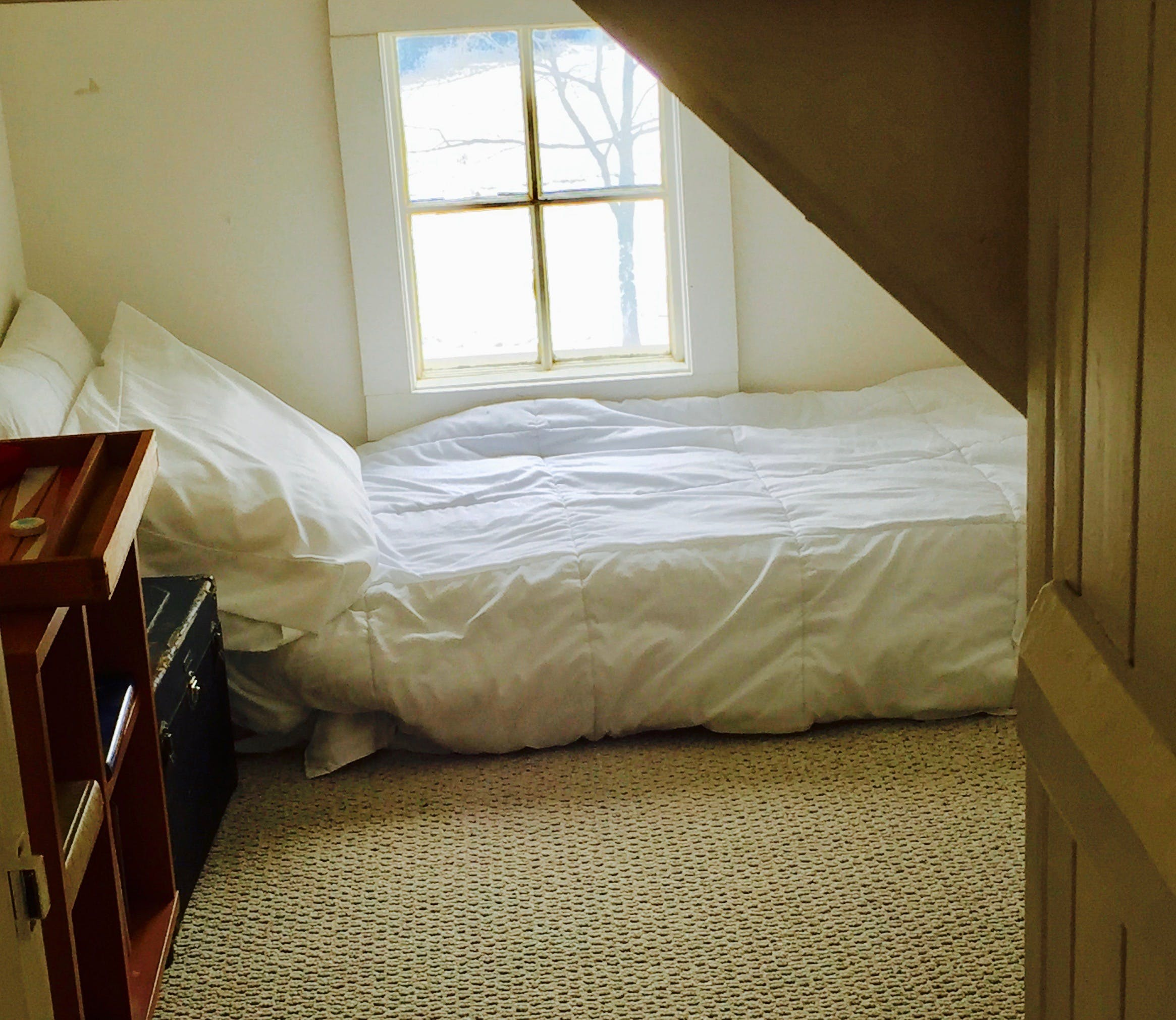 Cozy attic nook in second floor guest room