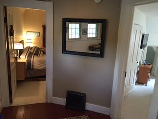 Entry doorways to upstairs guest rooms